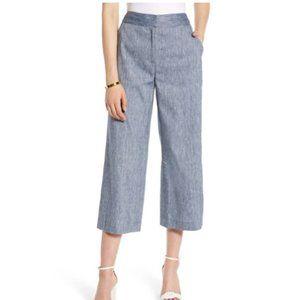 Halogen Blue Wide Leg Crop Pants